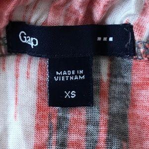 GAP Dresses - XS GAP Orange, Gray & White Midi Dress